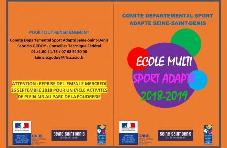 L'Ecole Multi Sport Adapté fait sa rentrée !